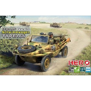HERO HOBBY KITS H35001 GERMAN SCHWIMMWAGEN TYPE 166 1/35